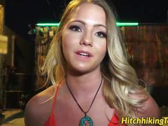 Perfect babe lilly sapphire rides massive cock in a car