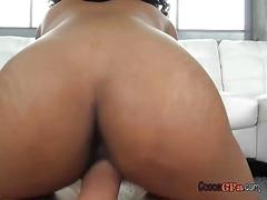 Sexy black girlfriend fucks hung boyfriend