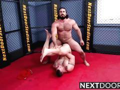 Chris takes jaxtons hard pounding like a good bottom slut