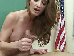 Sexy silvia saige slides her hands on cock