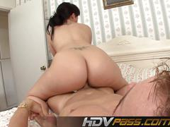 Brunette babe rose fuck with her big ass