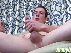 Pierce lubing himself up and playing with his thick meat