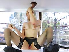 Blonde niki snow gives cock tingling massage to marco banderas