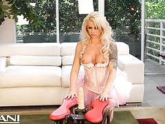 Horny brooke haven rides the rocker