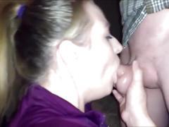 Sensual amateur blowjob and cumshot