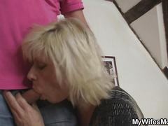 granny, mature, old and young, blonde, fucking, hardcore