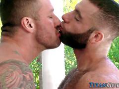 big cock, blowjob, muscle, kissing