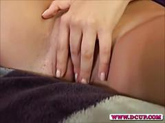 Horny milf tiana fingers her wet hole
