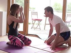 Hot czech girl fucked after yoga workout