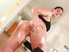 alison tyler, brunette, hardcore, big tits, busty, babe, masturbation, fingering, pornstar, solo, big boobs, gym, workout, fake tits, fake boobs, masturbate, masturbating
