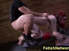 Bound sheena rose face fucked