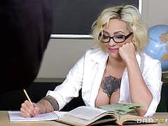 Busty blonde schoolgirl harlow harrison fucked by her teacher