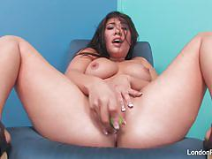Sensual london keyes masturbating