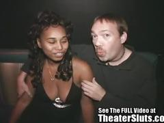 Big natural titty ebony nisha goes to a seedy porn theater with corruptordirty d