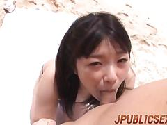 Dazzling sex at the beach with busty maeda