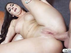 Hot amateur gf brittany shae ass fucked while being filmed