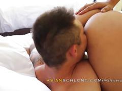 Asian guy fucks black girl ambf amxf jeremy long + adrian maya creampie