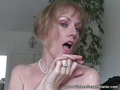 Cum swallowing amateur granny