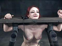 Bdsm torturing does electrify a redhead's nerves!