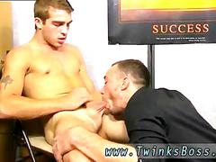 Gay dudes cock is in his pants receiving that raging boner
