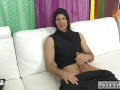 Cheerleader tranny laela knight throated and anal fucked