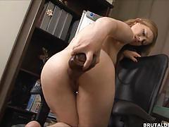 Babe toys her warm pussy