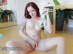 Pussy playtime with the wet minge of maci may
