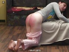 Natasha# spanking + rectal temperature + suppository