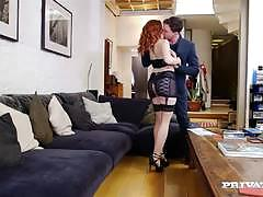 Cute little redhead amarna miller crammed in that cute pussy hole