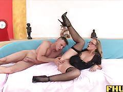 Fhuta colette takes a large cock