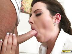 Milf slammed with hard cock in the kitchen