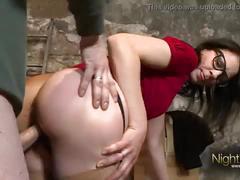 Nerd girlfriend fucked in the dungeon