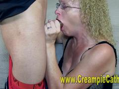 Young bbc leaves massive creampie