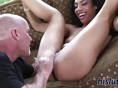 Her pussy craves for his hard dick
