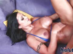 Raunchy jewels jade sits on a cock