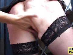 Chubby british sub dominated with roughsex