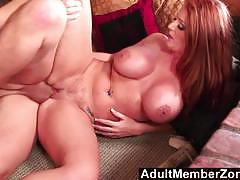 Redhead sophie dee fucked from behind