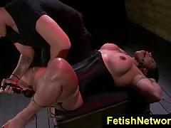 Fetishnetwork becca diamond gagging on a length