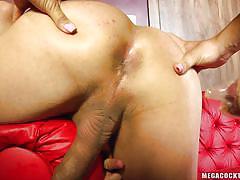 Luscious ladyboy having a tremendous anal fucking