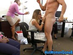 Cfnm slut blow creame bbc