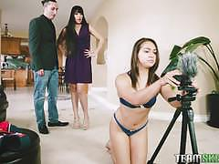 Mercedes carrera and her hubby have fun with the teen babysitter sara luvv