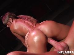 Hot german milf oiled up and squirting