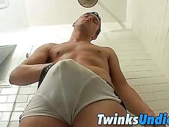 Waking up in the hottest pair of briefs with his uncut cock