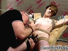 Free boy gay sex and college male bondage another sensitive cock drained