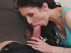 Sweet cock sucking crystal green rammed with big man meat
