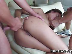 Asian annie cruz enjoys threesome