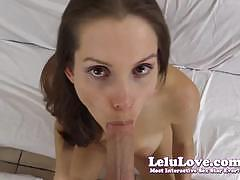 Sensual lelu love gobbles down this hard cock
