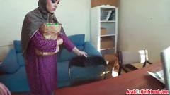 Ex arab girlfriend doggy style couch stiff shaft