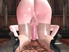 Animated cumming while is fucked by shemale