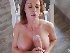 Milf sabrina cyns filled up with huge cock